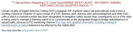 DSC VHF channel changing SAFETY ALERT, depressing! thumbnail