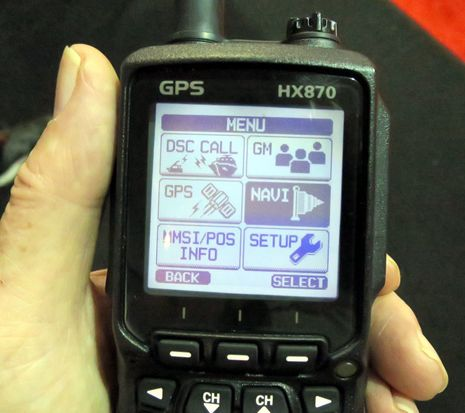 Standard horizon hx870 handheld vhfgpsdsc powerhouse on gps handheld marine