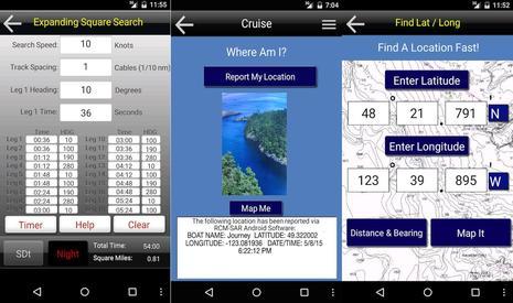 RCMSAR App Screens