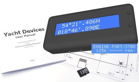 Yacht Devices NMEA2000 Text Display