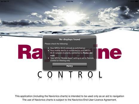 Raymarine Control App not found