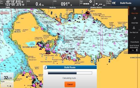 Raymarine Lighthouse r17 Dock-to-dock Autorouting