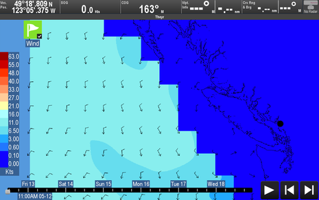 Raymarine Lighthouse r17 Globalmarinenet wind zoom Vancouver