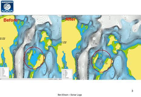 SonarChart changes Barred Islands