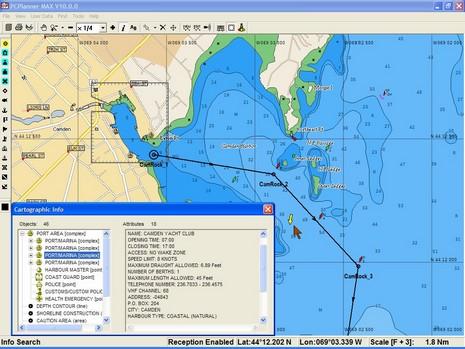 C-Map Max port info pcplanner3