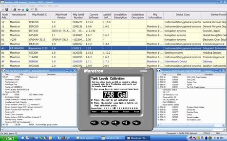 Maretron tank calibration cPanbo