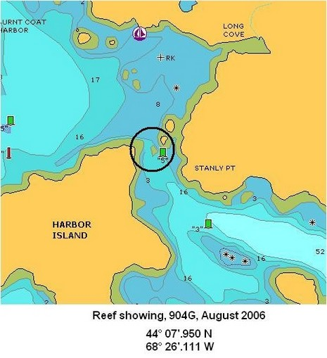 Navionics 904G_missing reef