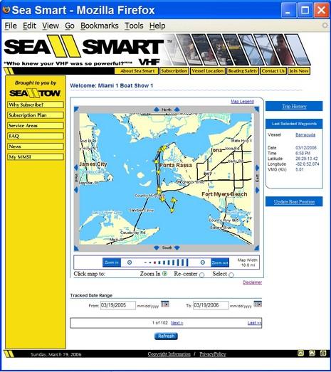 Sea Smart AVL Screen