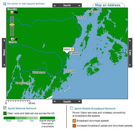 Panbo The Marine Electronics Hub Sprint Cell Coverage Map Damn - Us cell phone coverage map 2010