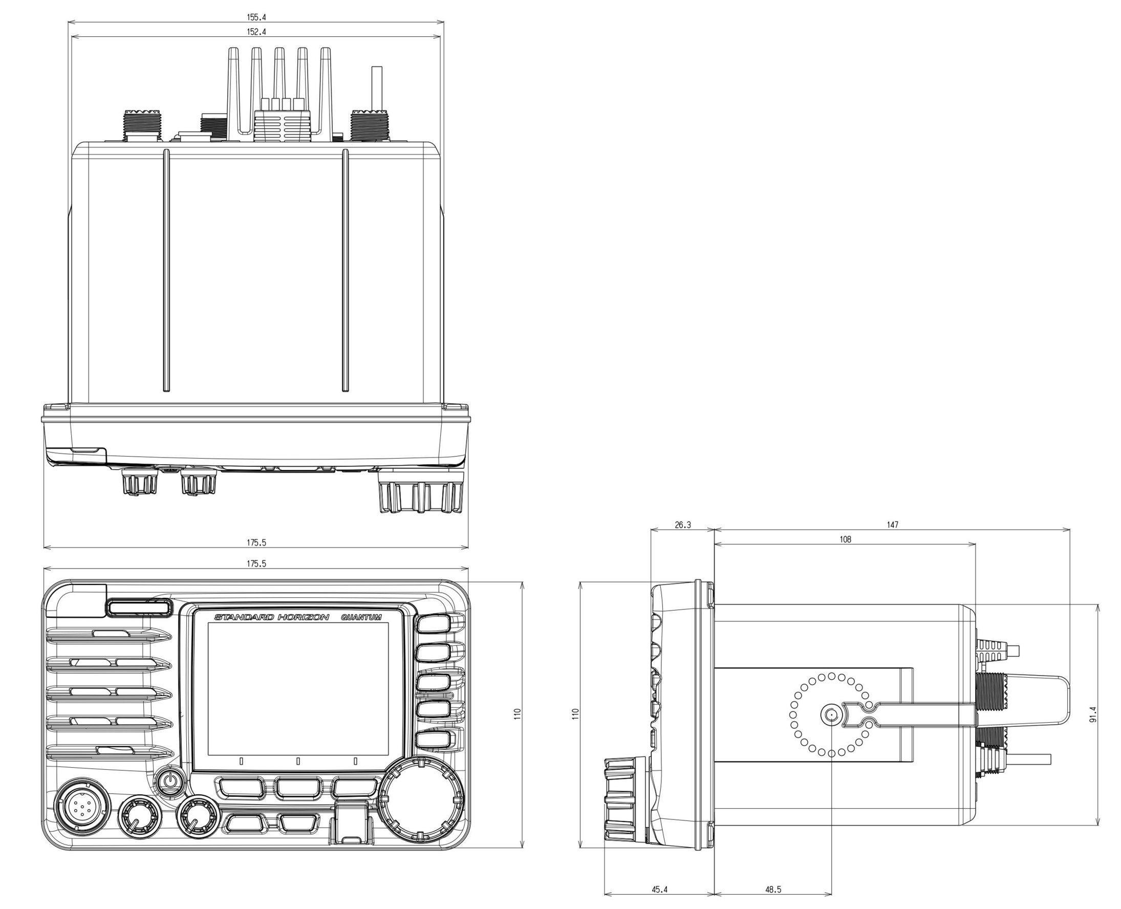 panbo  the marine electronics hub  standard horizon gx6500